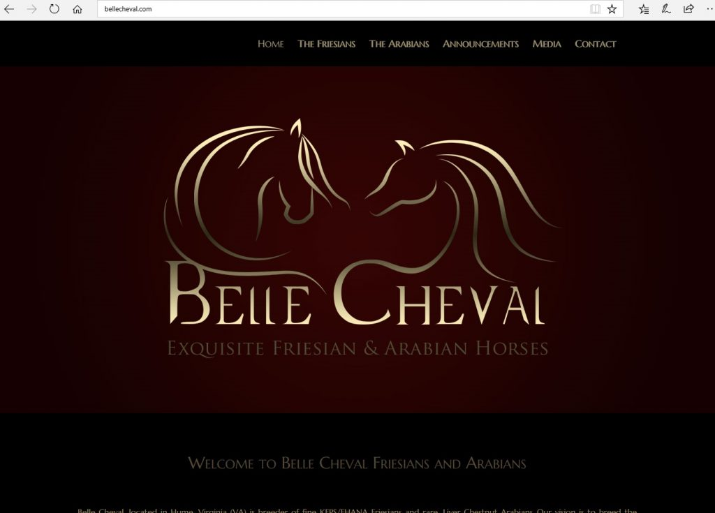 Belle Cheval Arabians. Breeding Crabbet-related Arabians, linebred to *Raffles through Lewisfield Sun God.